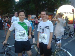 City-Nachtlauf mit polnischen Teilnehmern der Vege Runners